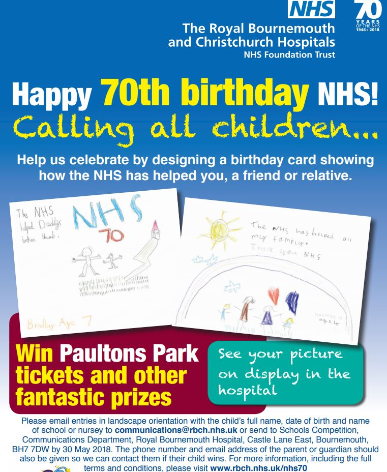 NHS 70th Birthday Card Competition