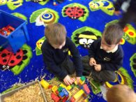 Busy Builders in RA Class!